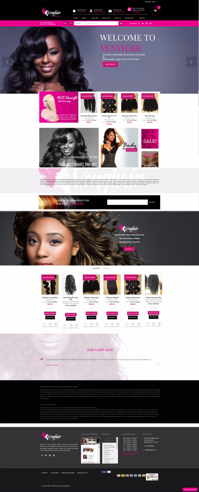 venyhair websitedesign staggraphic